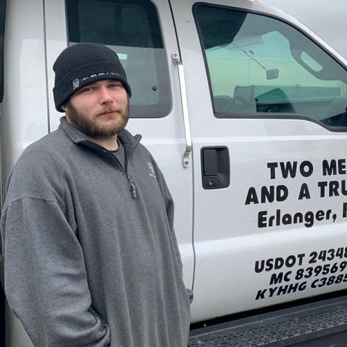 Jordan Klette is the Mover of the Month for TWO MEN AND A TRUCK Northern Kentucky