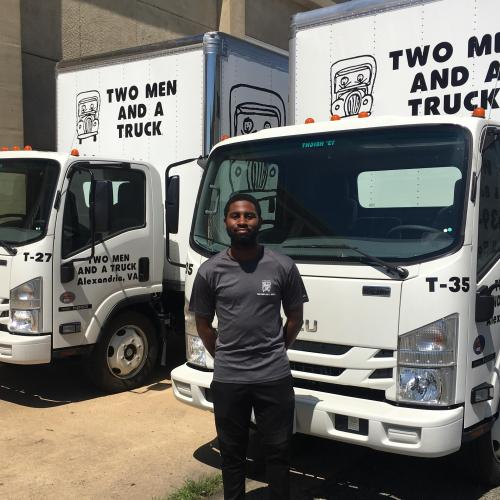 Marcellus Dinkins, Employee of the Month for May at Two Men and a Truck