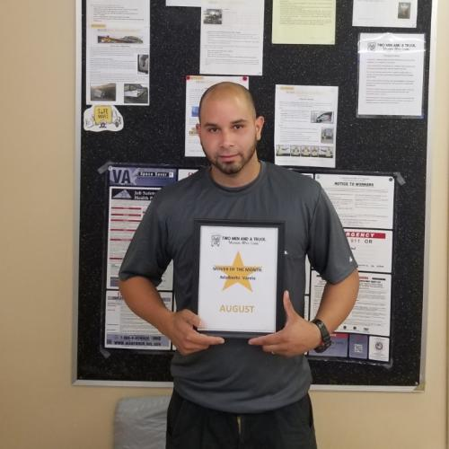 Adalberto Varela, Driver of the Month for Two Men And A Truck, Alexandria VA