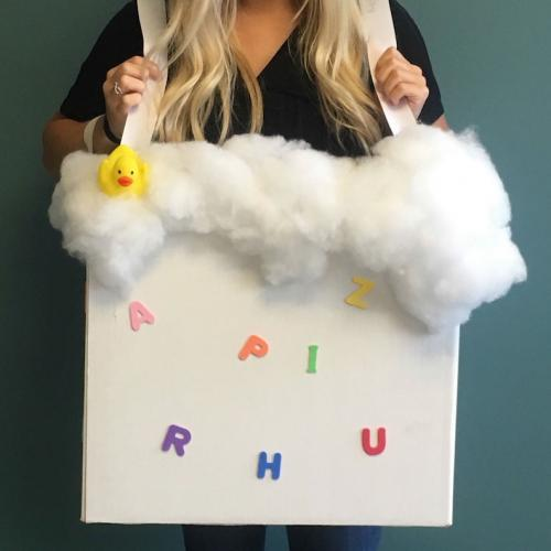 Bubble bath box costume