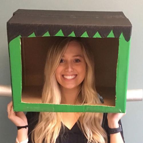 Frankenstein box costume mask