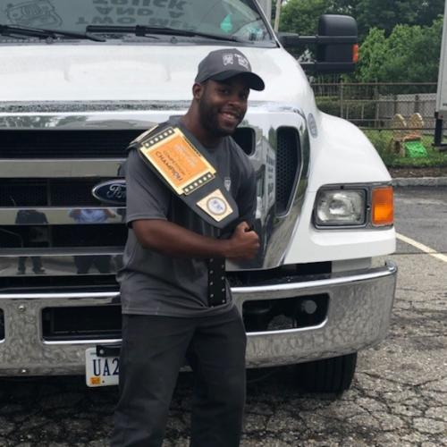 Patrick Brown, employee of the month at two men and a truck in westchester, new york