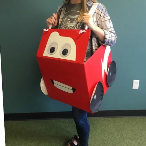 lightning mcqueen box costume idea