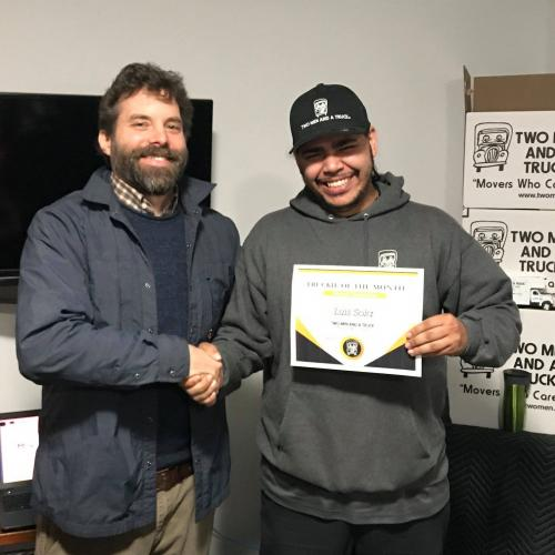 Luis Sola Five Star Mover Of The Month