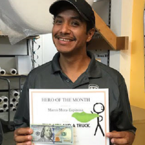 two men and a truck mover of the month