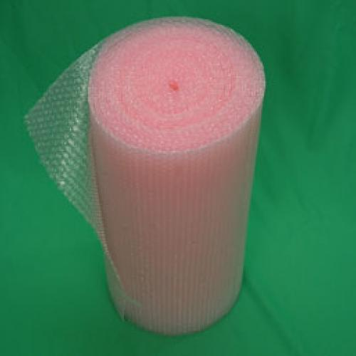 pink static free bubble wrap