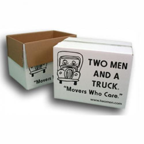 two small two men and a truck boxes