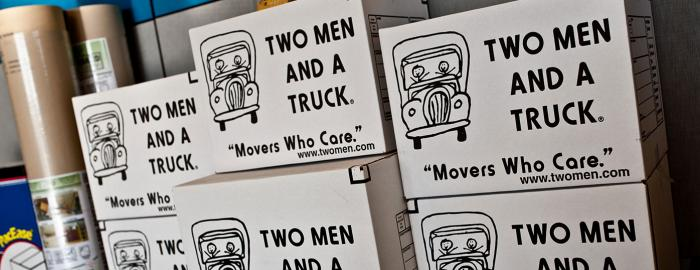TWO MEN AND A TRUCK Moving Boxes