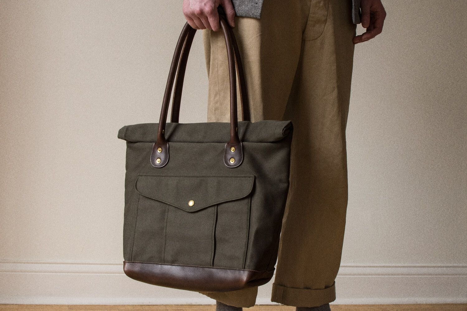 Olive Roll Top Bag Image