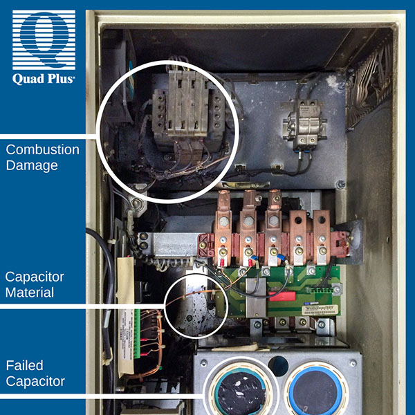 Reducing Failure Risk with Capacitor Reforming combustion damage