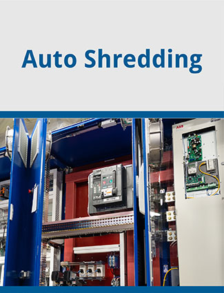 auto shredding installation company brochure