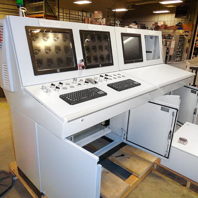 case study extrusion controls for rubber and plastic manufacturer oem requested automation system for their rubber and plastics customer