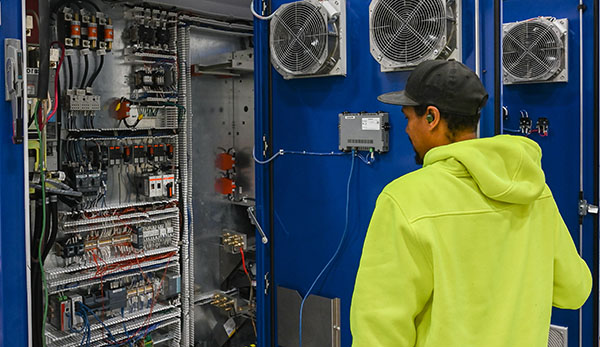 diagnosing, repairing and serving an industrial control system issue