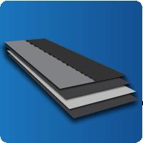 laminating application during the construction process of an asphalt shingle