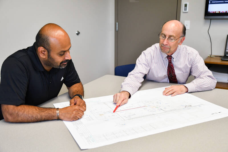 engineers discuss industrial design project for control system integration
