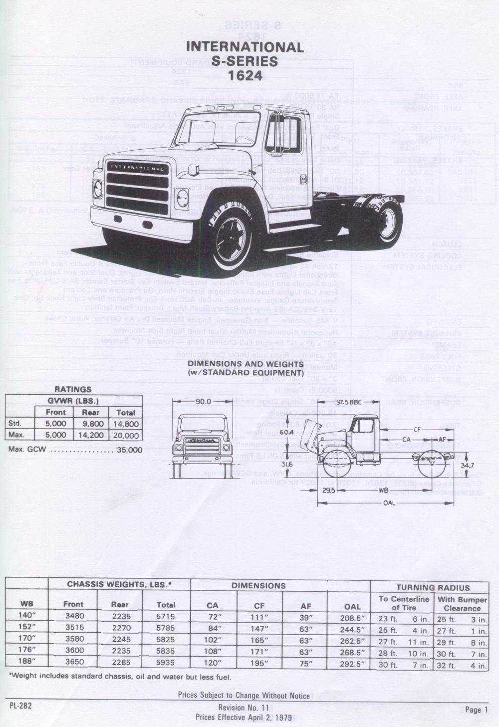 s-series spec sheet - ih trucks