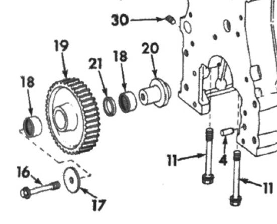 help with d239 idler gear - ih construction equipment
