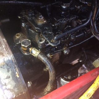 585 Injector pump rebuild and Timing - General IH - Red