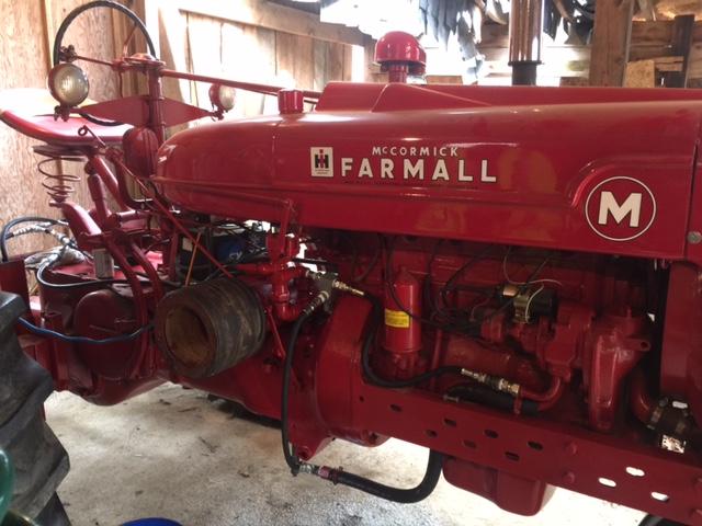 Farmall M 3 Point hydraulic hook up - General IH - Red Power