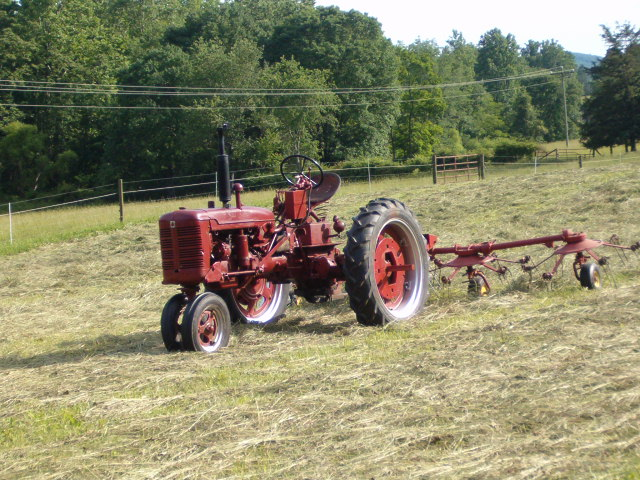 Farmall C on the tedder - Coffee Shop - Red Power Magazine
