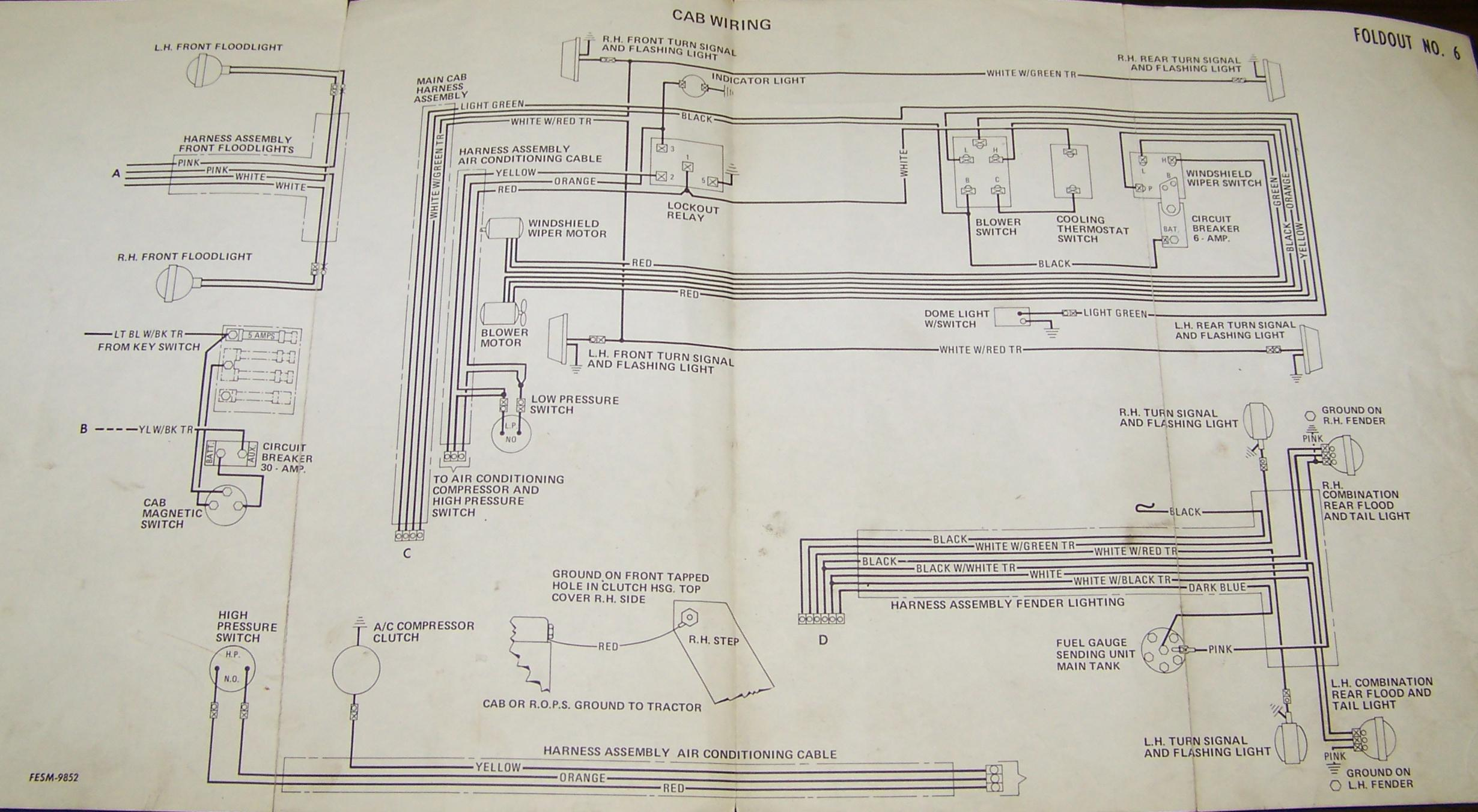 John Deere Headlight Switch Wiring Diagram Farmall 300 Data 350 Schematics 2000 International 4700