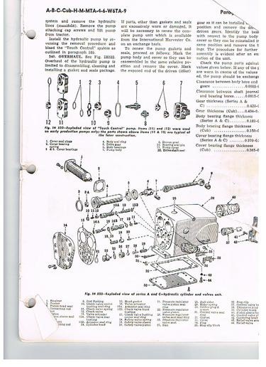 rebuilding touch control assembly general ih red power Farmall M Steering Diagram