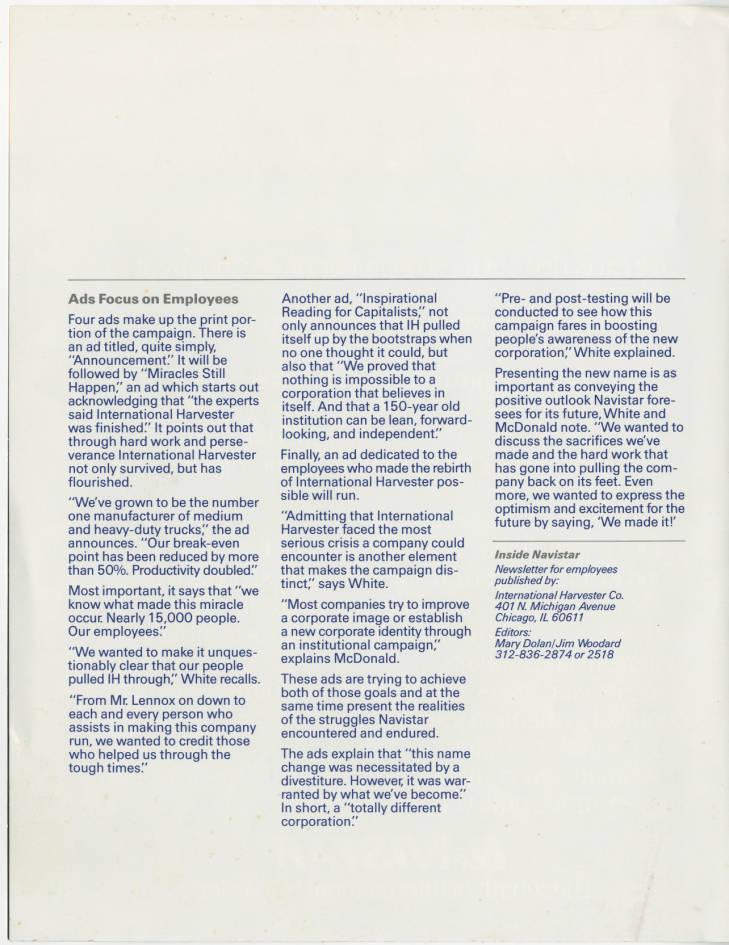 NAVISTAR, the rebirth of IH - General IH - Red Power Magazine Community