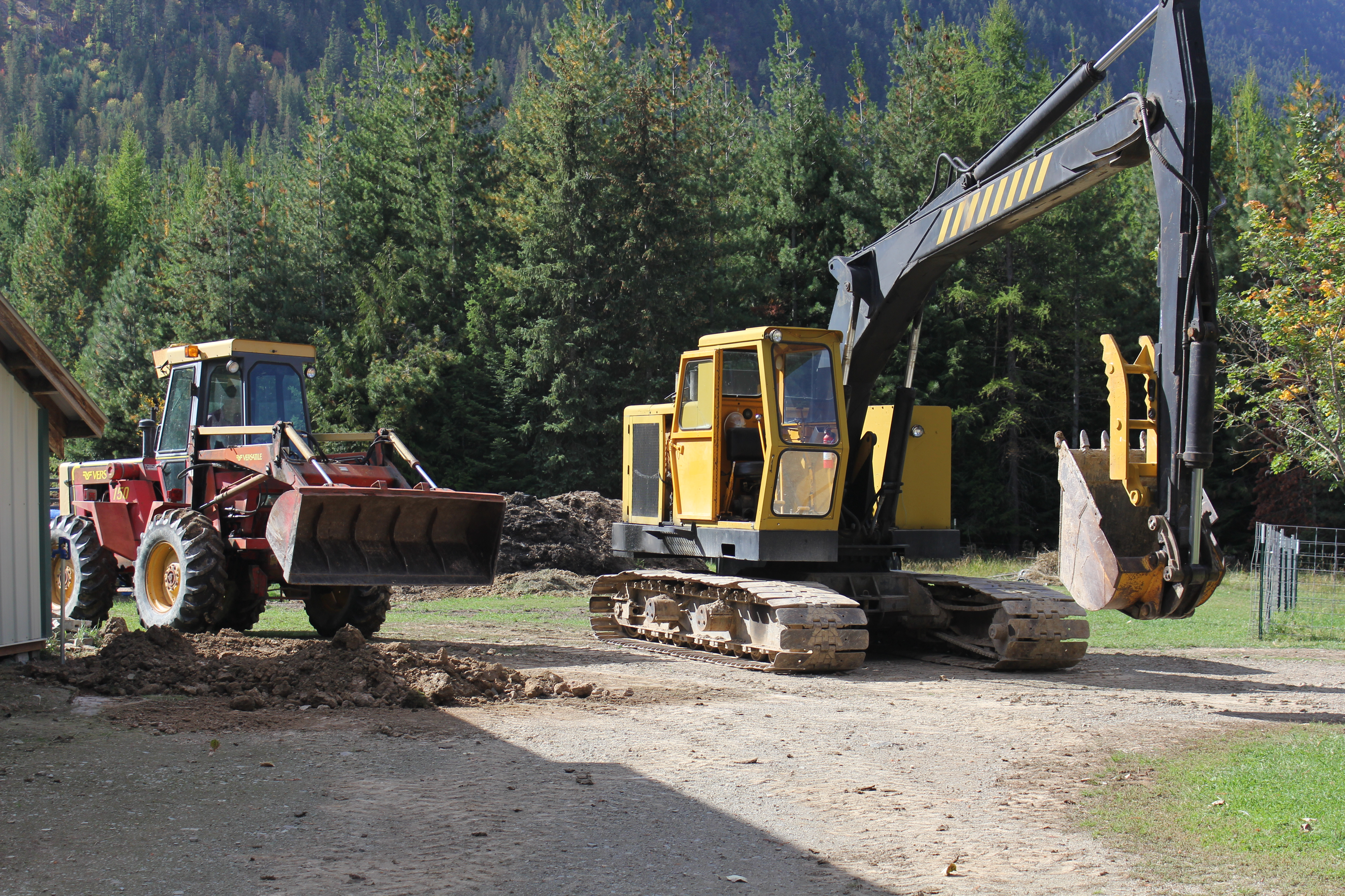 Pushing over Trees VS Digging out Stumps! - IH Construction