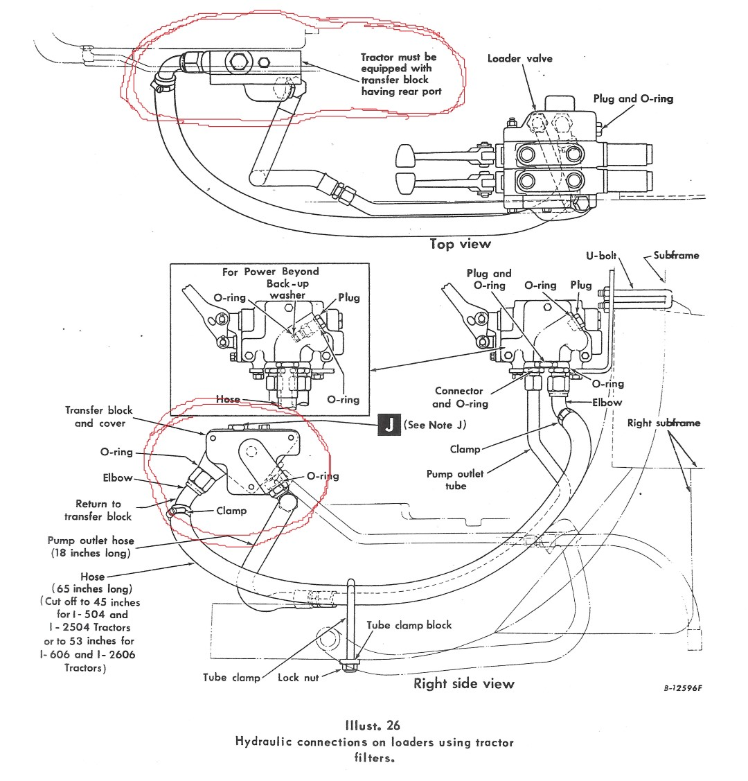 Hydraulic Hose Diagram Farmall Tractor Custom Wiring Ih 560 Adding Remote Connecters To 504 Built Without Any General Rh Redpowermagazine Com 450 140