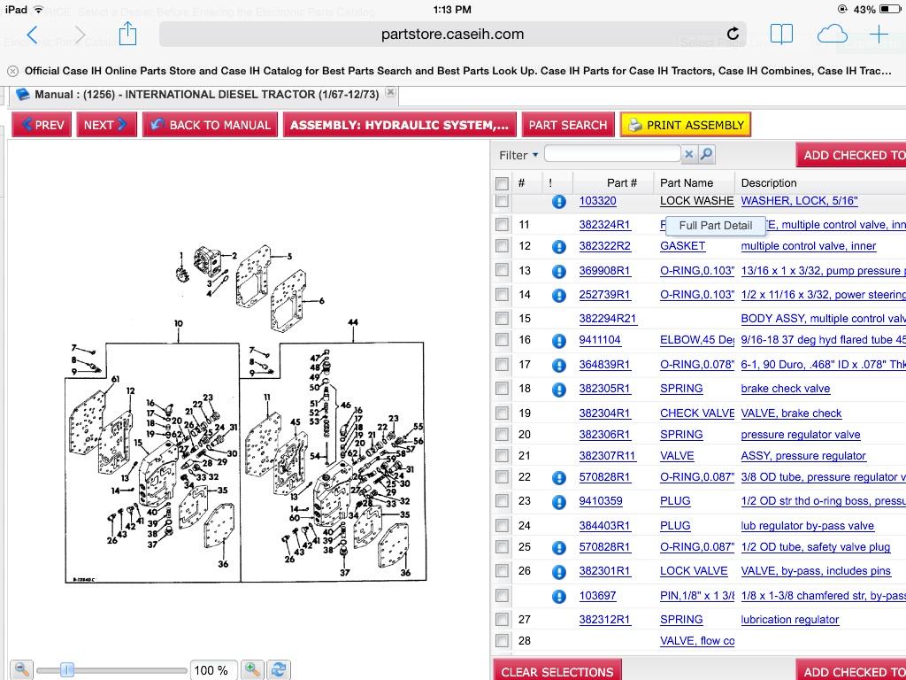 1066 Factory T  A Delete Mcv Gasket Kit - General Ih