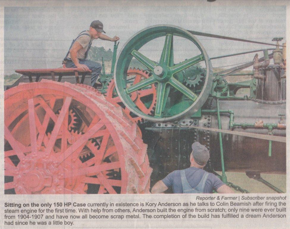 150 H P  CASE 'Road Locomotive' - Coffee Shop - Red Power