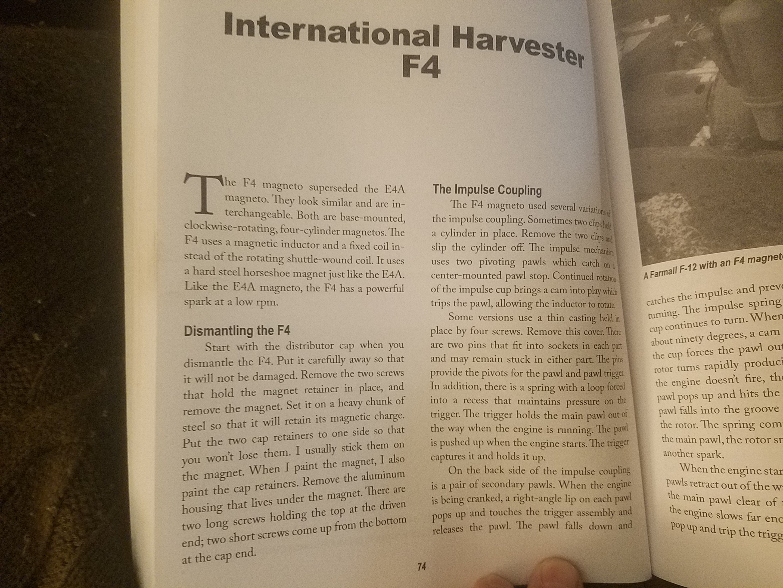 F4 magneto impulse - General IH - Red Power Magazine Community