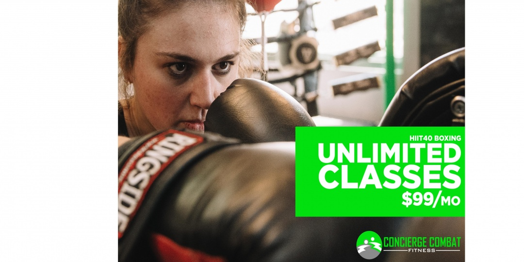 $25 OFF for HIIT40 Boxing Membership at Concierge Combat Fitness - Partner Offer Image