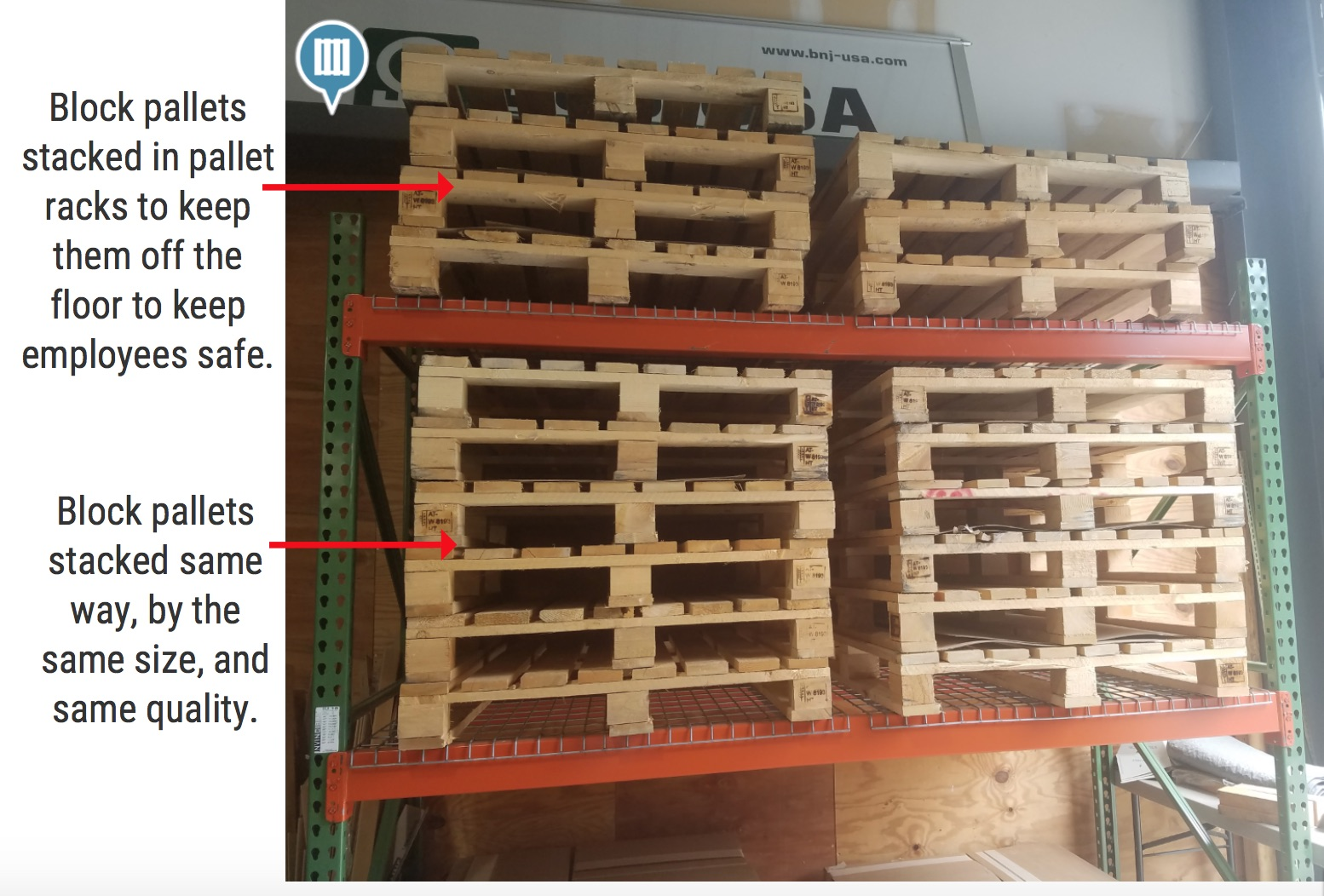 Block Pallets In Pallet Rack