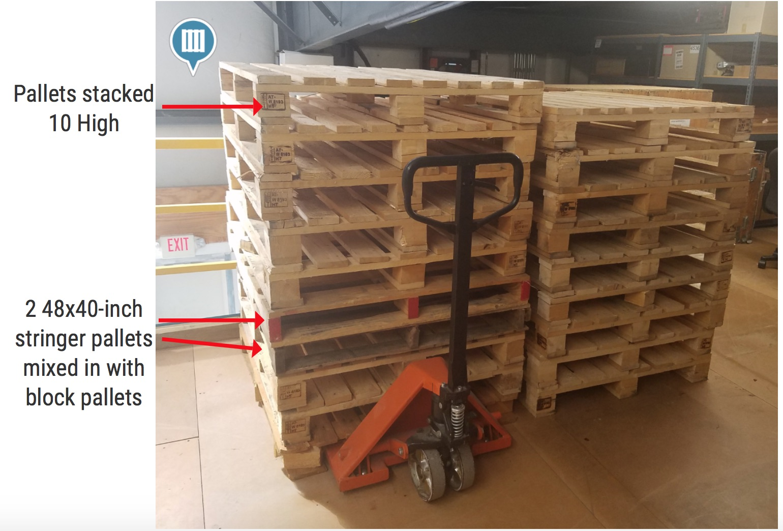 26 pictures analyzing pallet management at businesses for Movable pallets