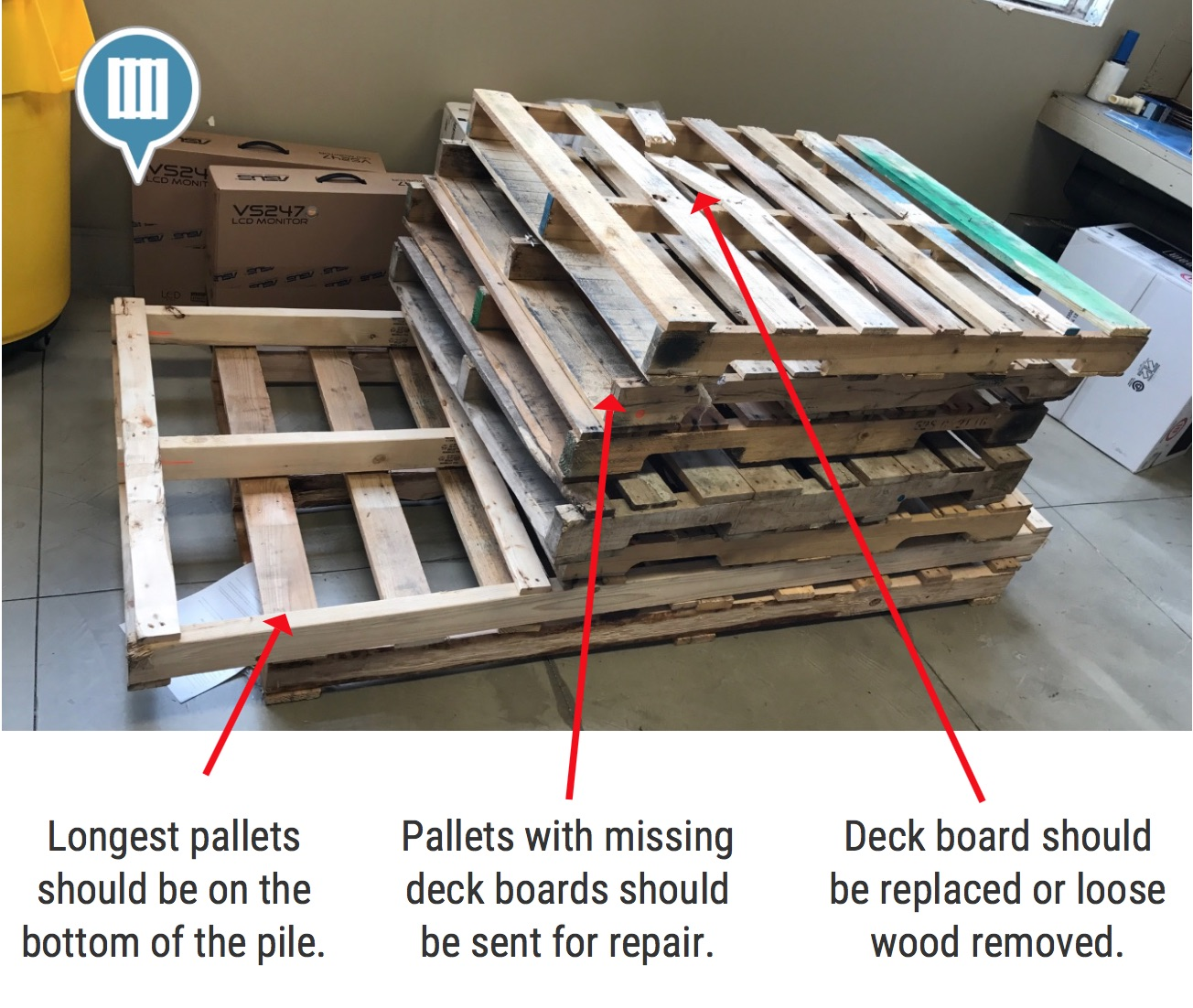 Wood Pallets Stacked By Size