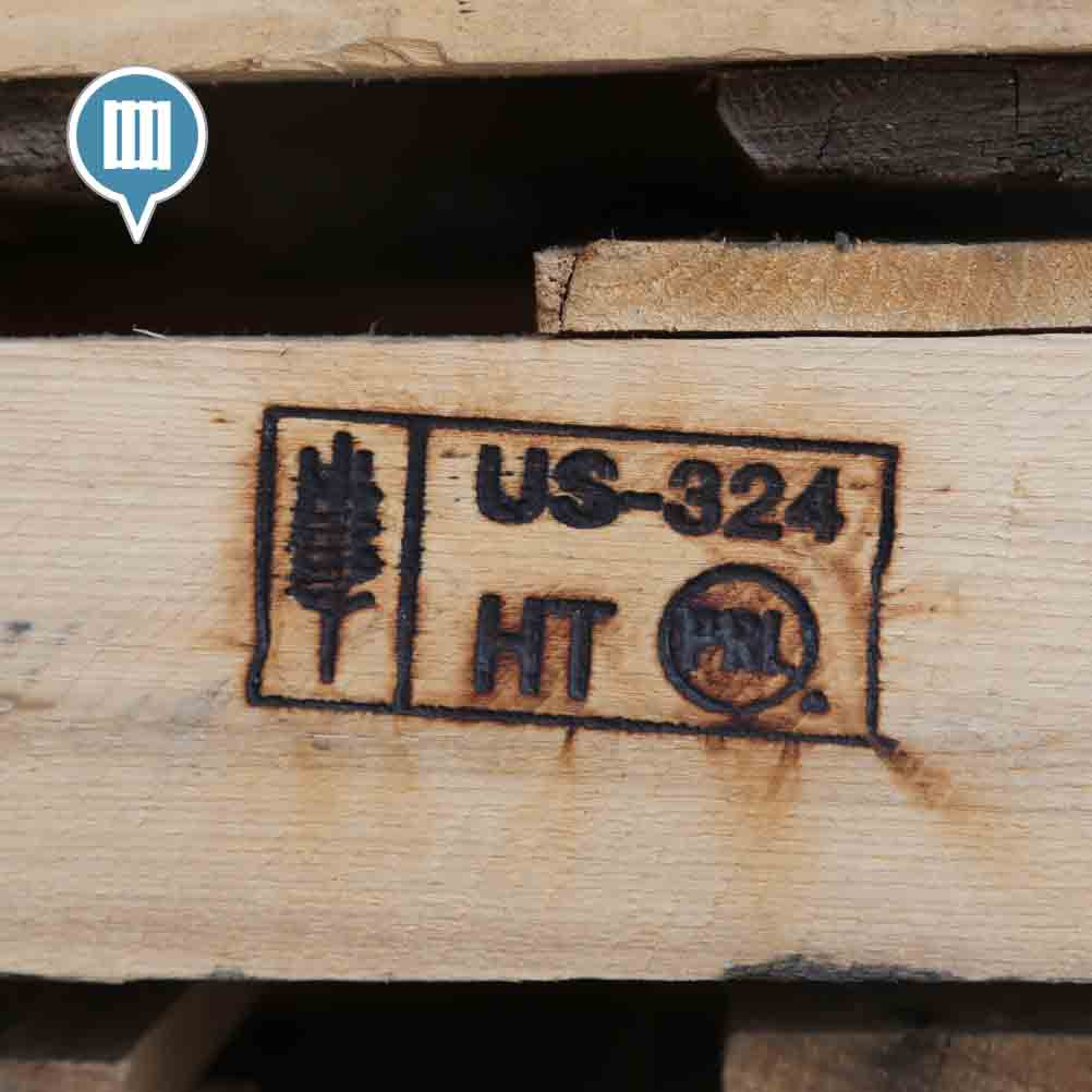 Heat Treated Pallet Stamp USA