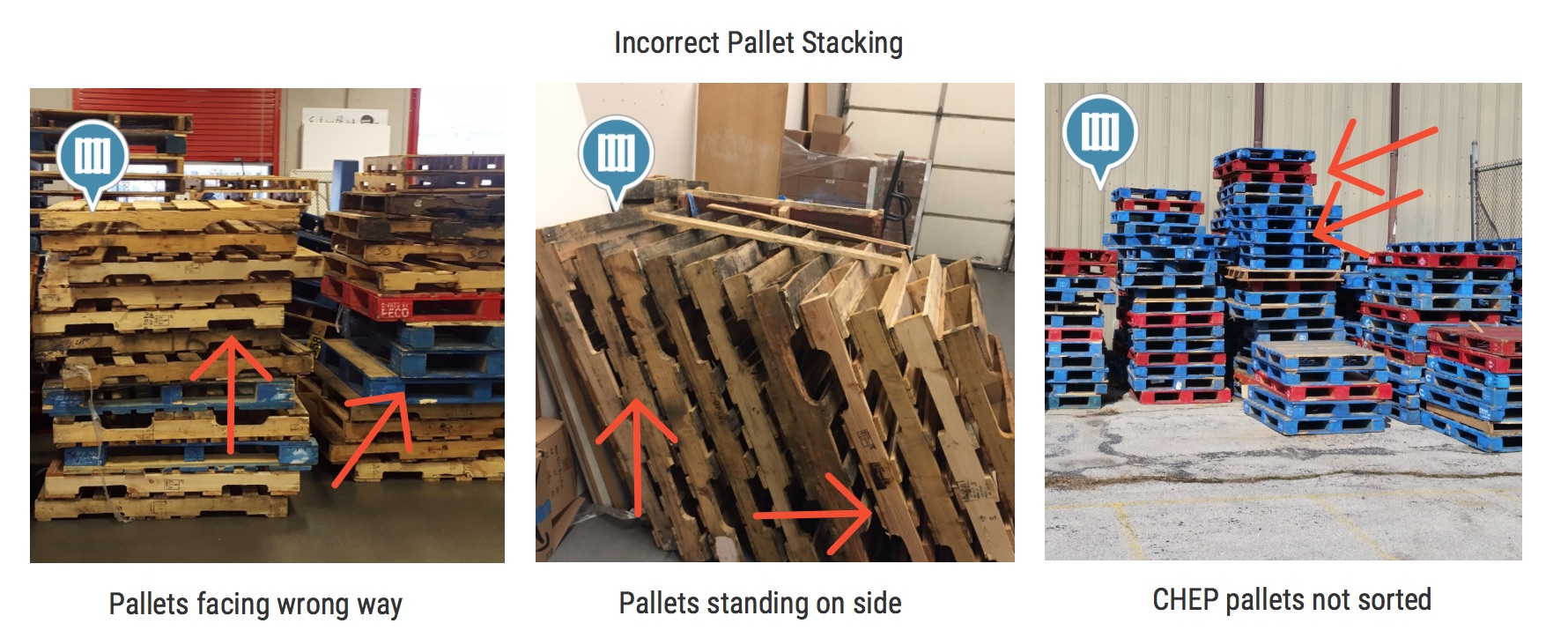 Incorrect Pallet Stacking