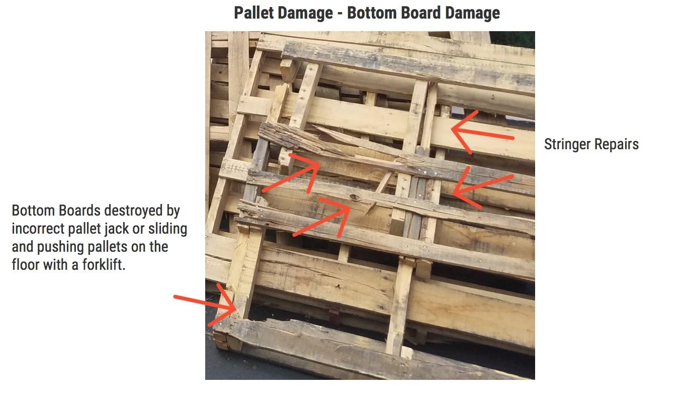 Damaged Pallet Bottom Boards