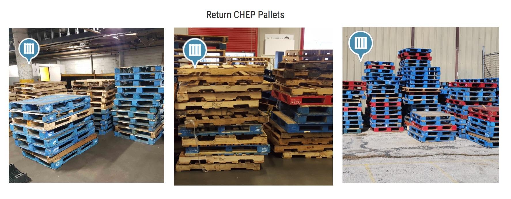 Return CHEP Pallets