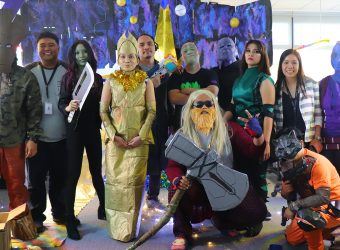 Heroes at the 2019 Diversify Halloween Party