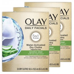Olay Daily Facials for Clean Sensitive Skin - Review
