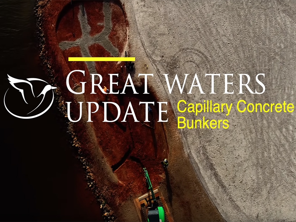 Great Waters Update - Capillary Concrete Bunkers