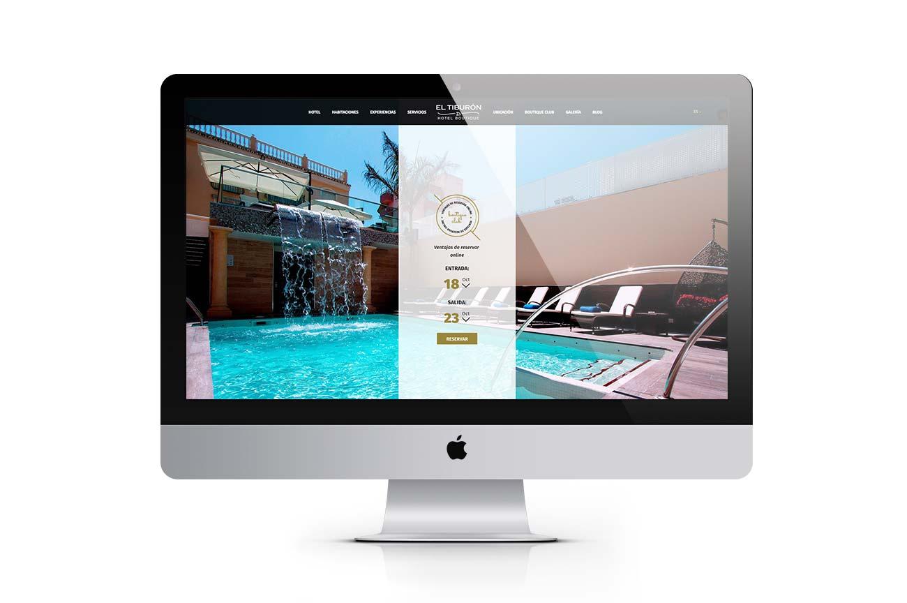 Web hotel El Tiburón