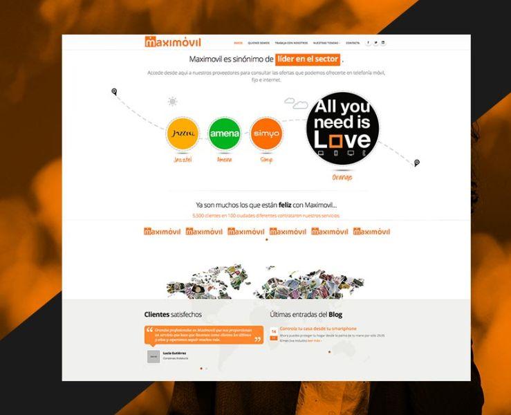 Diseño Web Maximovil