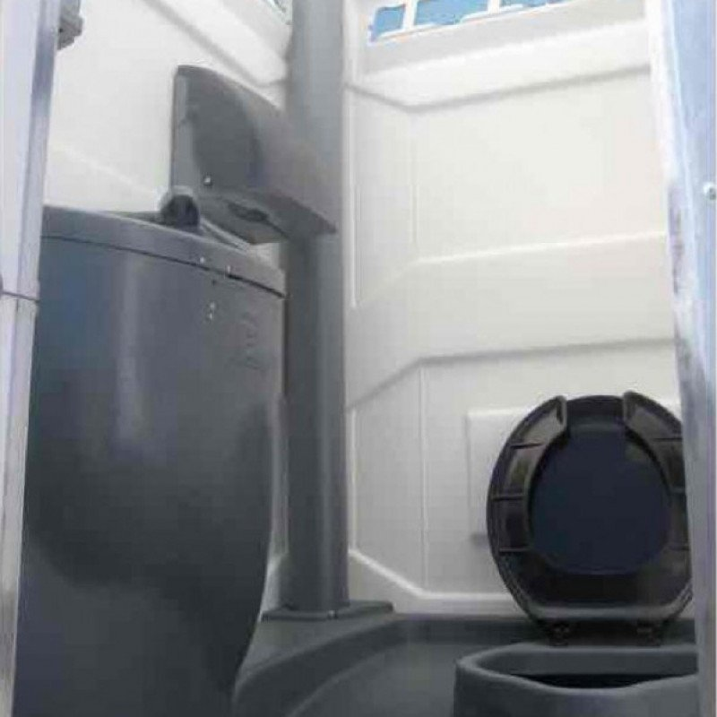 Portable restroom - recirculating flush with sink