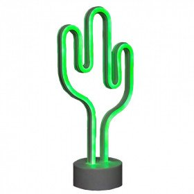 LED Tabletop Neon Cactus