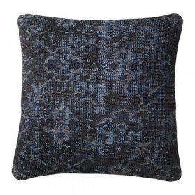 Navy Patterned Pillow