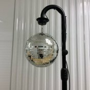 Disco ball with 2 led pin spot lights