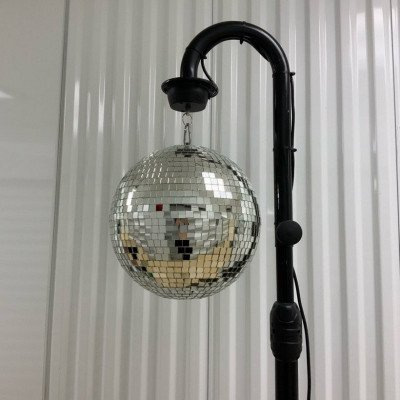 Disco ball with 2 led pin spot lights picture 1